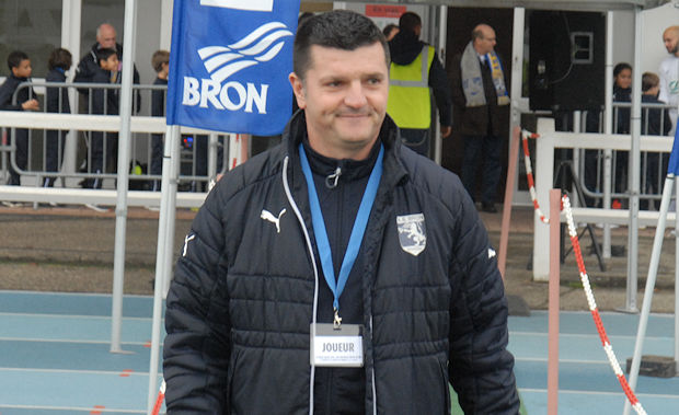 François Villebrun, l'entraîneur de l'AS Bron