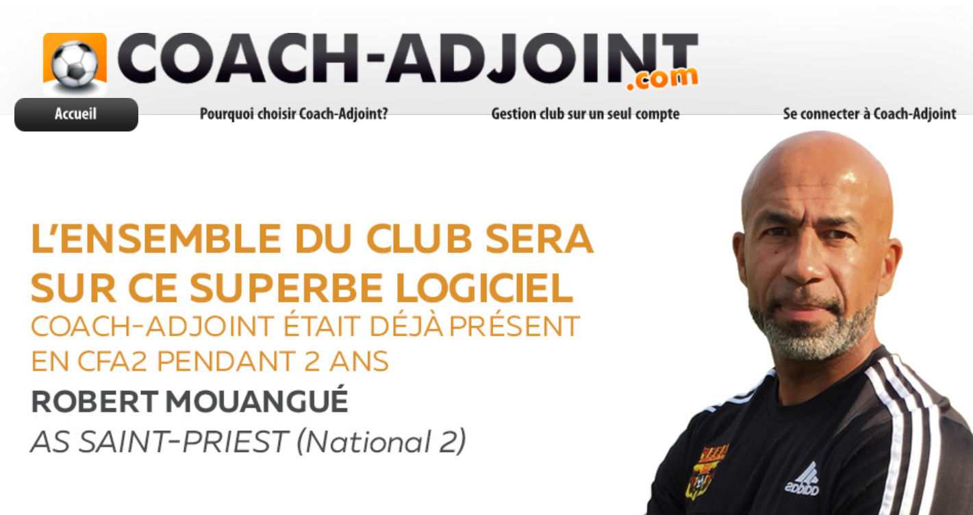 Robert Mouangué et l'AS Saint-Priest utilise Coach-adjoint !