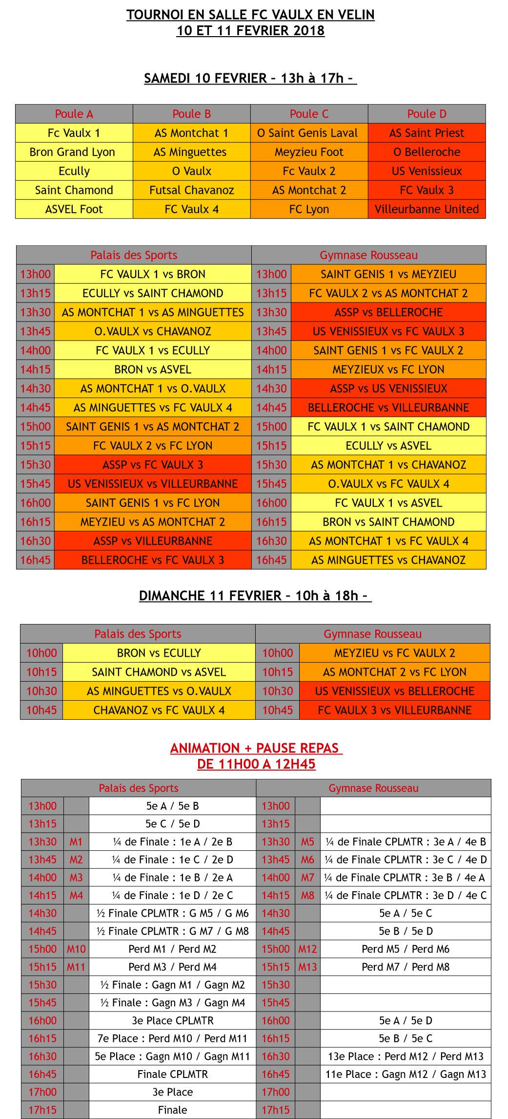 Futsal U13 - On va se régaler au Palais des Sports de VAULX !