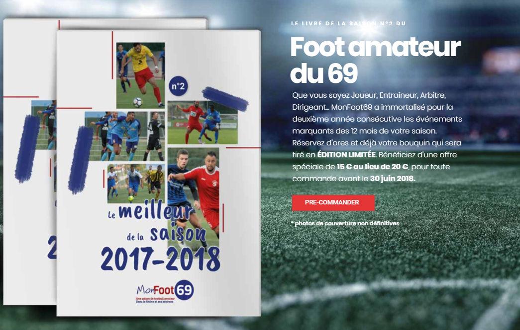Livre MONFOO69 - Eric VIAL a commandé... ses livres souvenirs de la saison 2017-2018 !