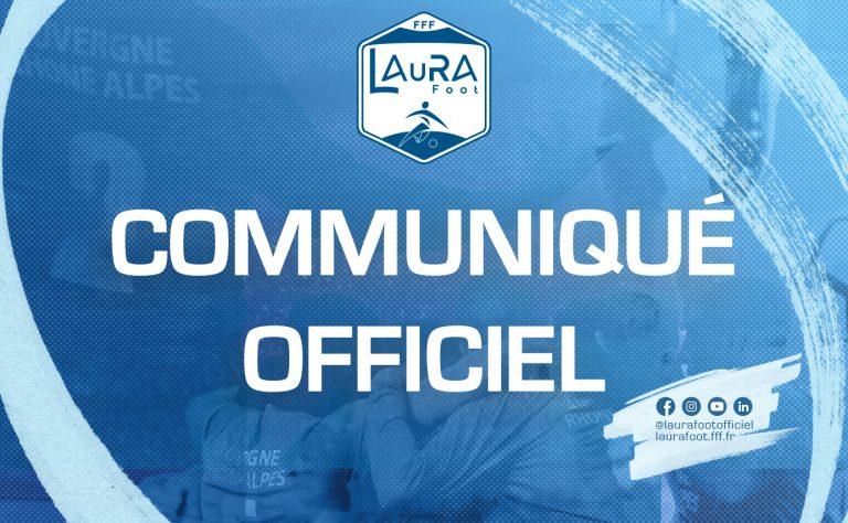 Licences - La Ligue LAuRA Foot communique