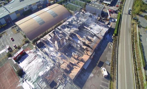 Les batiment ont été complètement ravager par l'incendie