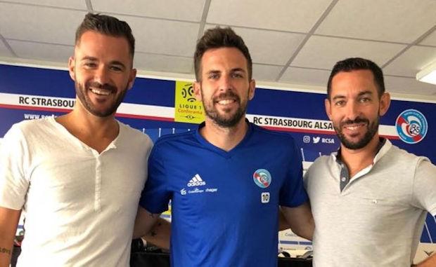 Yann Obitz, Benjamin Corgnet (RC Strasbourg, ex US Millery-Vourles et MDA Foot) et Florent Rivet