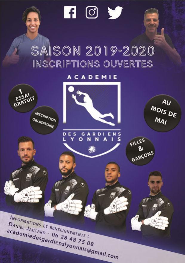 Académie des GARDIENS LYONNAIS - Les inscriptions sont ouvertes pour la saison 2019-2010