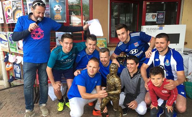L'équipe GI HECIPIA, vainqueur du tournoi entreprise.