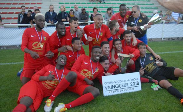 Les réservistes de Lyon-Duchère AS, vainqueur de la coupe du Rhône 2018