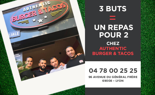Challenge Authentic Burger&Tacos (Buteurs R3) - MANGA est le PICHICHI de R3
