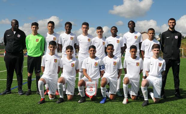 Le FC Lyon C, vainqueur de la Coupe du Rhône U15