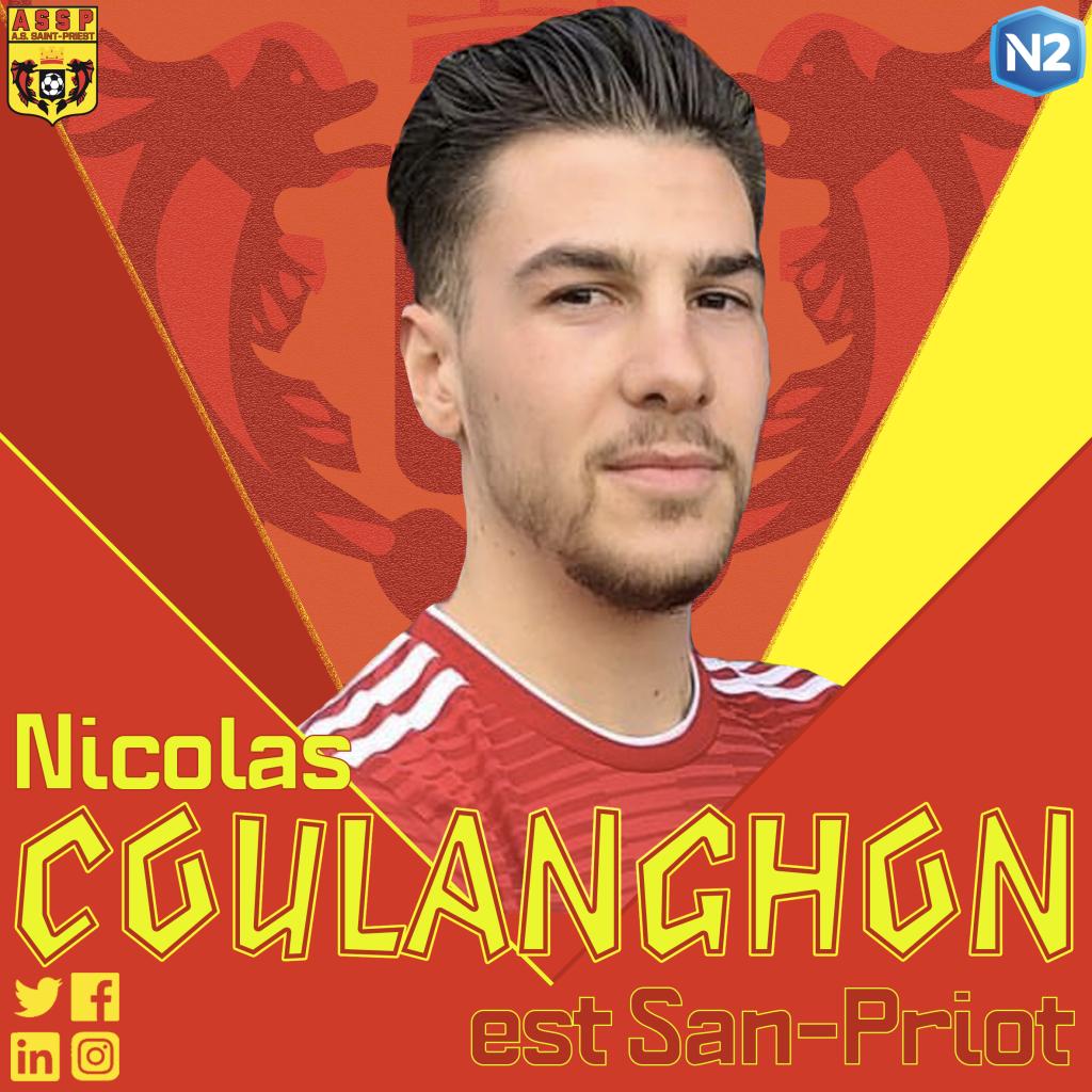 Nicolas Coulanghon s'engage avec Saint-Priest