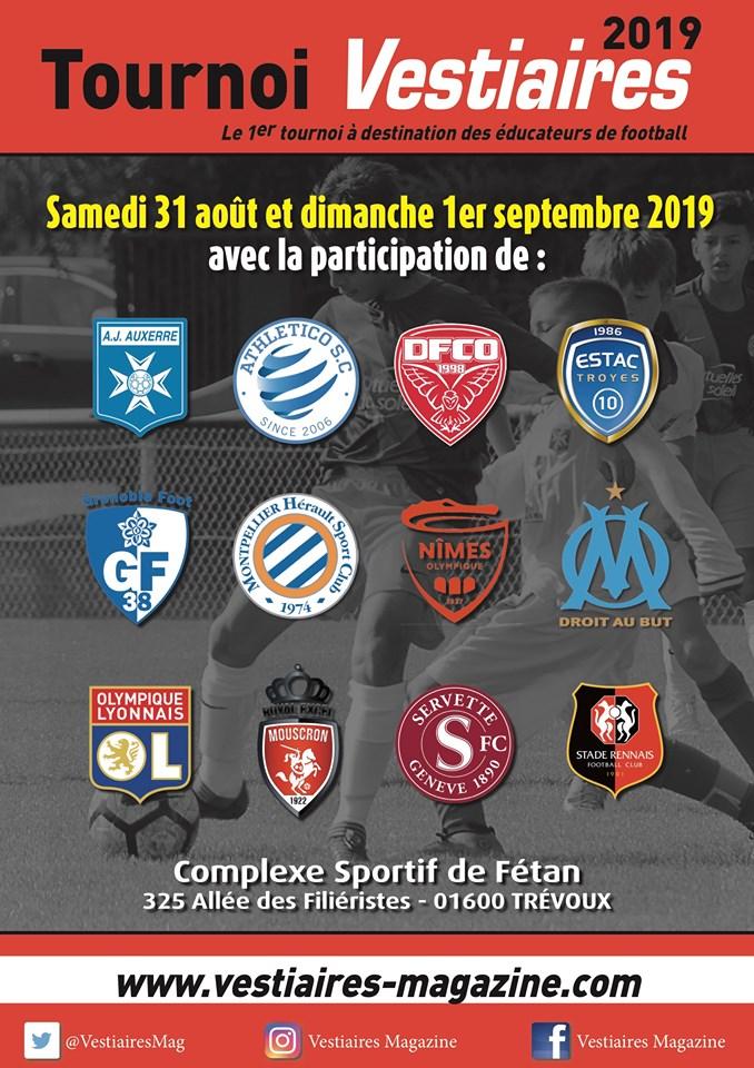 Rendez-vous au Complexe Sportif de Fétan à Trévoux pour le tournoi Vestiaires Magazine U12