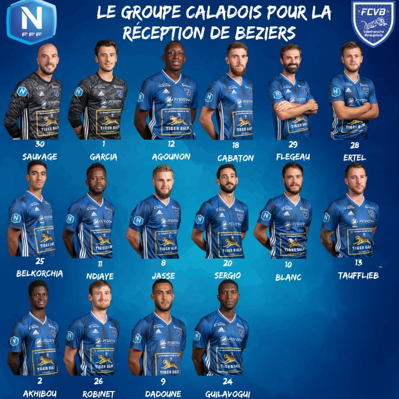 FC Villefranche Beaujolais : le groupe contre Béziers