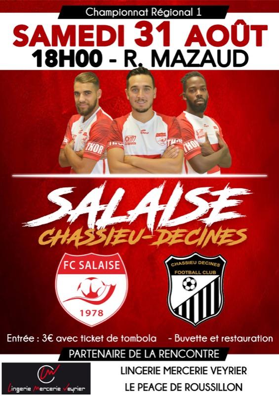 Suivez FC Salaise - Chassieu Décines en direct commenté