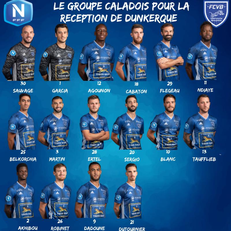 FC Villefranche Beaujolais : le groupe contre Dunkerque