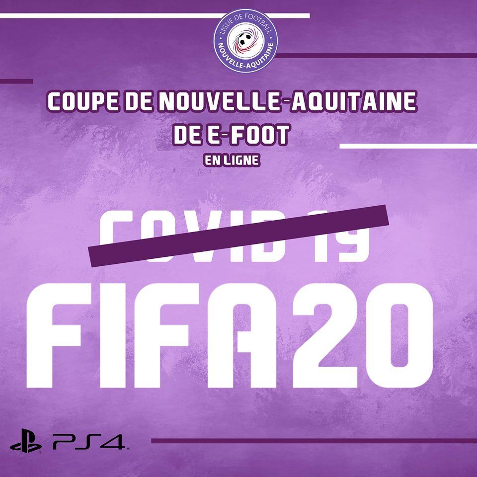 La bonne idée de la Ligue Nouvelle Aquitaine avec un tournoi e-foot en ligne sur FIFA 20
