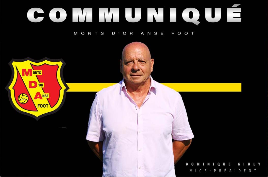 Dominique Giuly quitte MDA Foot et rejoint Lyon Duchère !