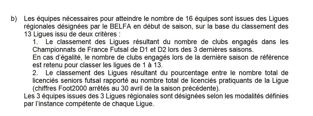 Futsal: quelles sont les équipes monteront en D2?