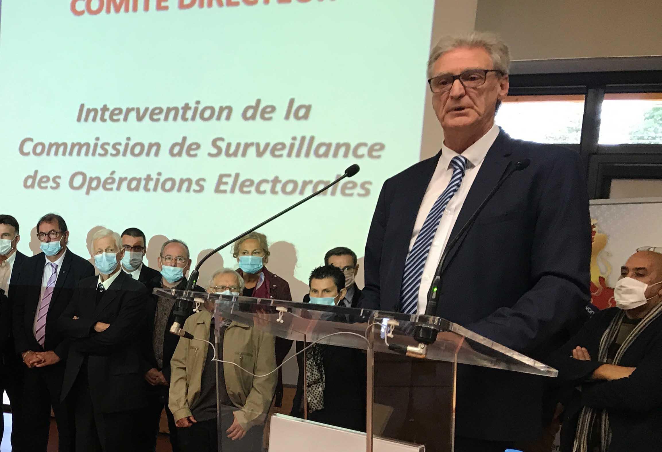 Arsène Meyer a été réélu pour quatre ans à la tête du District. (Photo District de Lyon et du Rhône)
