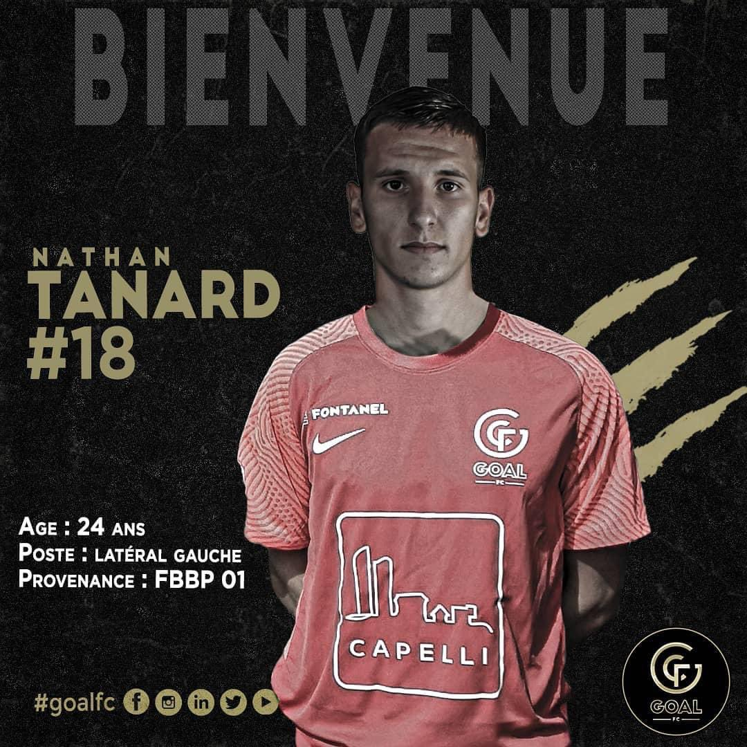 GOAL FC annonce le recrutement de Nathan Tanard !