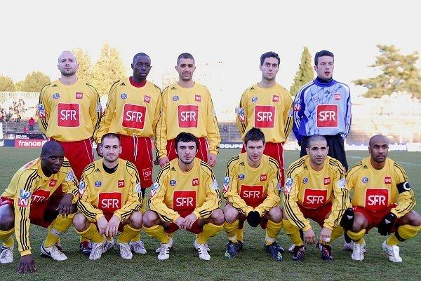 Avec Lyon-Duchère AS, avant le match de coupe de France face à Lille, en janvier 2008