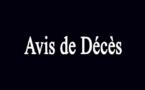 Avis de Décès - Le FC DOMTAC endeuillé