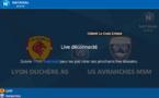 N1 - LYON-DUCHERE AS - US Avranches en direct VIDEO ce soir sur MONFOOT69