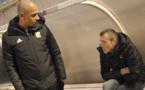 Lionel Bah et Eric Guichard en pleine discussion avant le derby