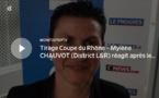 Coupe du Rhône – Mylène CHAUVOT (District L&R) réagit après le tirage des DEMIES de la coupe Féminine