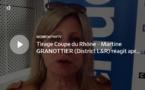Coupe du Rhône – Martine GRANOTTIER (District L&R) réagit après le tirage des QUARTS