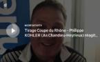 Coupe du Rhône – Philippe KOHLER (As Chandieu-Heyrieux) réagit après le tirage des DEMIES de la coupe Féminine