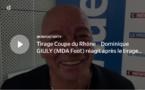 Coupe du Rhône – Dominique GIULY (MDA Foot) réagit après le tirage des QUARTS