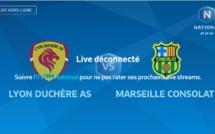 N1 - Suivez LYON-DUCHERE AS - Marseille Consolat en direct vidéo soir sur MONFOOT69